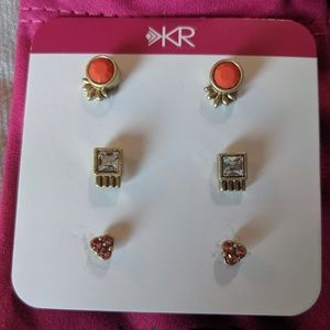 Silpada KR collection set of 3 post earrings.v